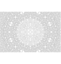 Art for adult coloring book with oriental pattern vector