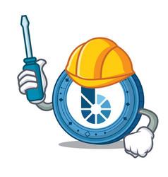 Automotive bitshares coin mascot cartoon vector