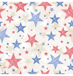 Background with Seamless pattern with stars vector image