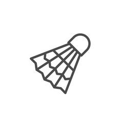 badminton shuttlecock line outline icon vector image