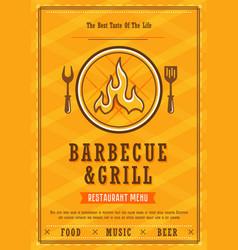 Barbecue menu design template vector