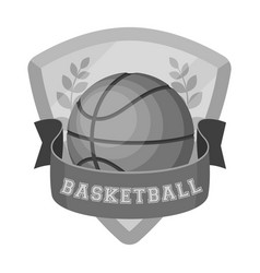 Basketball emblembasketball single icon in vector