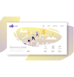 Business career landing page template website vector