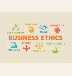 Business ethics concept with icons vector