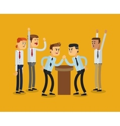 Businessmen competition icon vector