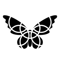 Butterfly icon Mosaic butterfly clipart vector image