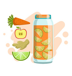 carrot lime ginger and apple smoothie non vector image