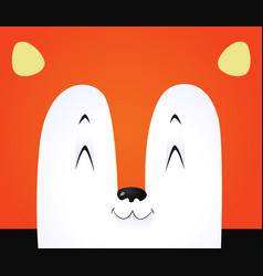 cute fox background vector image