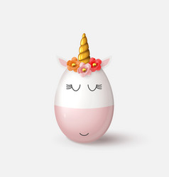 cute unicorn from egg isolated on white background vector image
