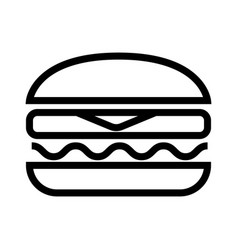 delicious juicy burger with meat cutlet cheese vector image