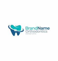 Dental orthodontics tooth dentist logo graphic vector