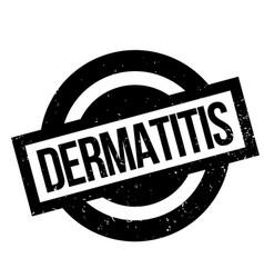 Dermatitis rubber stamp vector