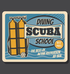 diving school sea scuba active recreation club vector image