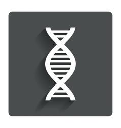 DNA sign icon Deoxyribonucleic acid symbol vector