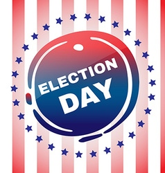 Election day banner vector