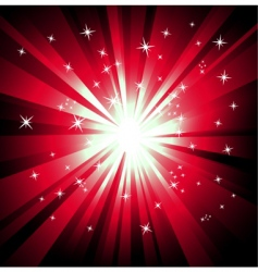 explosion of lights vector image