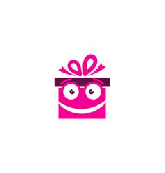 face gift logo icon design vector image