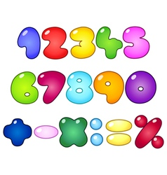 fat bubble numbers vector image