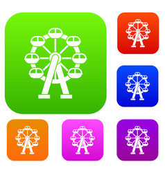 Ferris wheel set collection vector