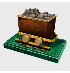 Figure truck with ore symbolic gift to the miner vector