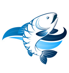 Fish in water symbol vector