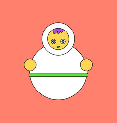 flat icon design collection russian doll vector image vector image