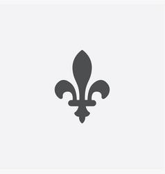fleur-de-lys outline icon vector image