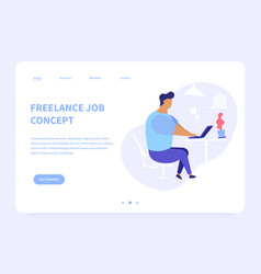freelance job concept landing page vector image
