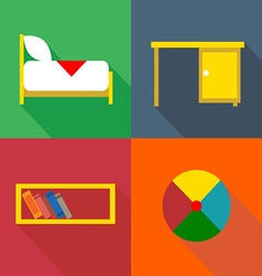Furniture set in outlines Digital image vector image