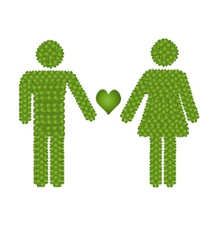 Gender Icon in Love with Heart Symbol vector image