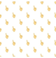 Gesture thumb up pattern cartoon style vector