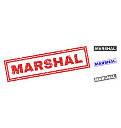 Grunge marshal textured rectangle watermarks vector