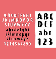 hand drawn brush letters font abc free vector image