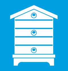 Hive icon white vector