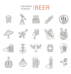 Icon and logo beer and brewery vector