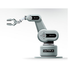 industrial machine robotic hand arm machinery vector image