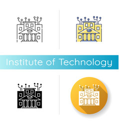 Institute technology icon vector