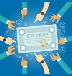 Iso 14000 management environmental standards vector