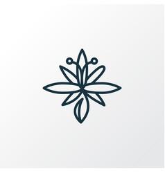 lily icon line symbol premium quality isolated vector image