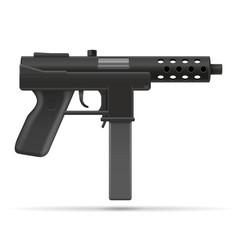 machine submachine hand gun street gang weapons vector image