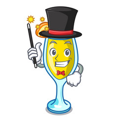 Magician mimosa mascot cartoon style vector