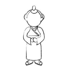 man japanese avatar character vector image