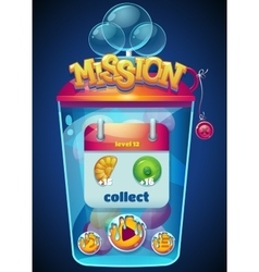 mission collect window vector image