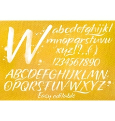 Modern alphabet orange background vector image