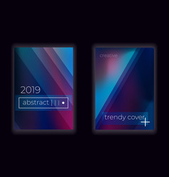 modern gradient mesh cover set with fluid vector image