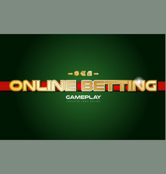 online betting word text logo banner postcard vector image