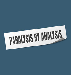 Paralysis analysis sticker paralysis by vector