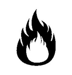 Pixel flame fire vector