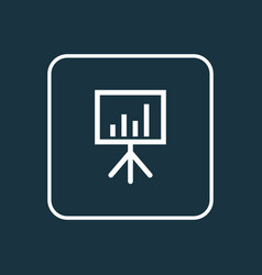 presentation board outline symbol premium quality vector image