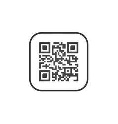 qr code sign creative app scan code symbol round vector image